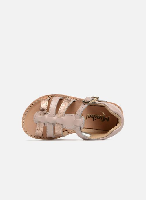 Sandals Minibel Keglae Pink view from the left