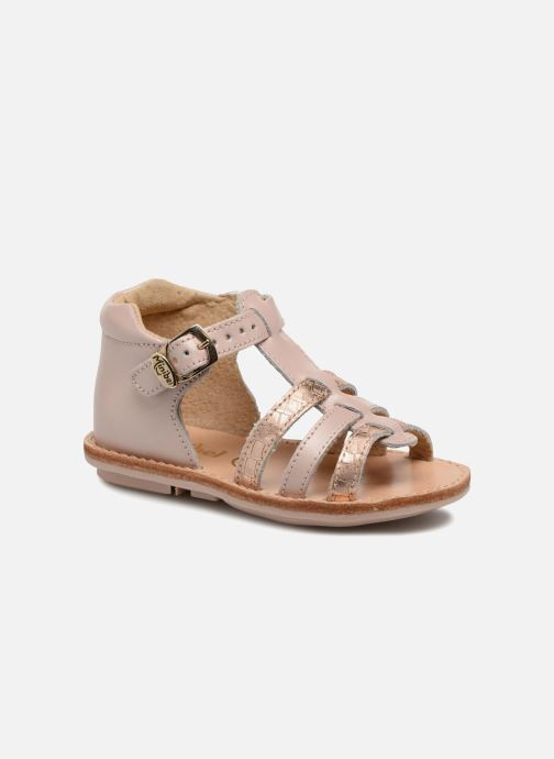 Sandals Minibel Keglae Pink detailed view/ Pair view