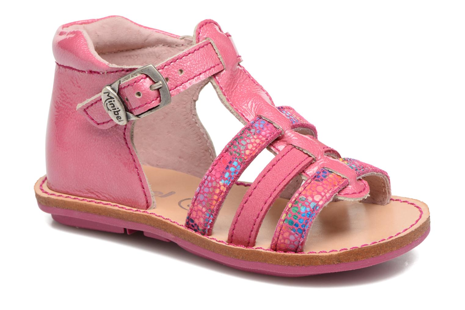 Sandals Minibel Keglae Pink detailed view/ Pair view