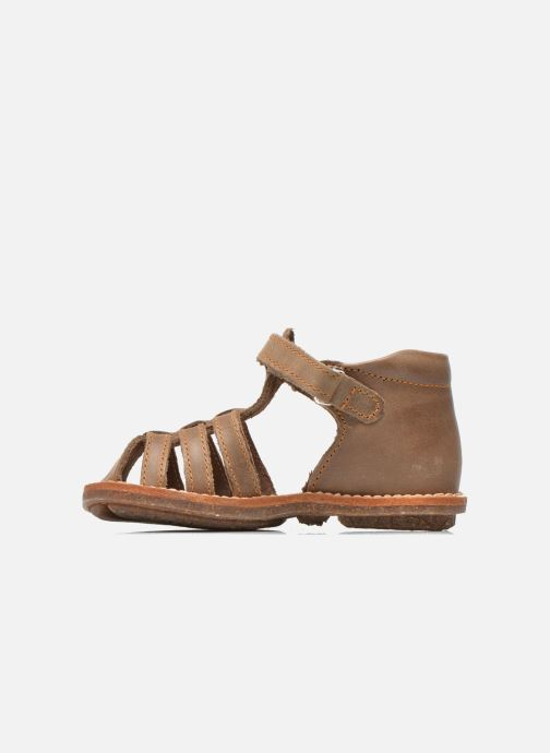 Sandals Minibel Keou Brown front view