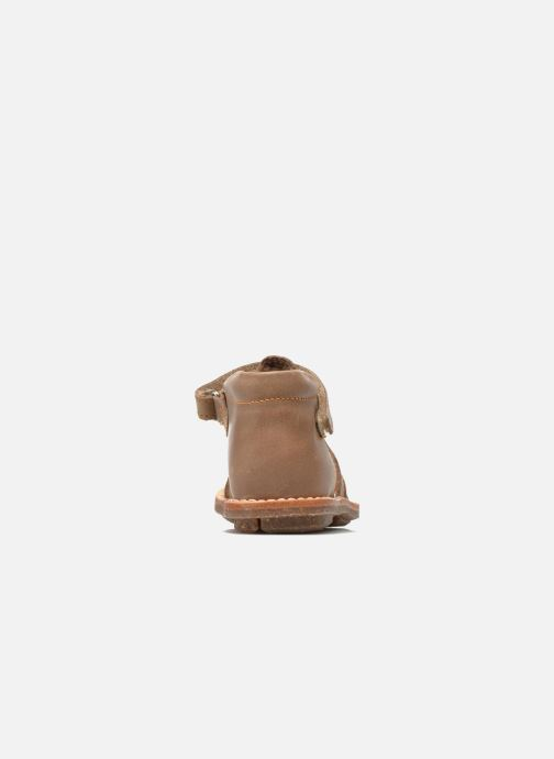Sandals Minibel Keou Brown view from the right