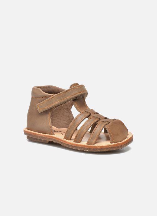Sandals Minibel Keou Brown detailed view/ Pair view