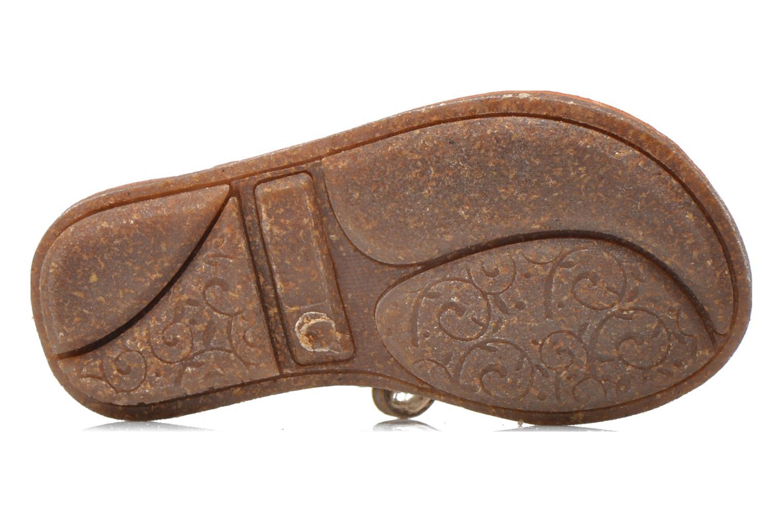 Sandalias Minibel Keou Marrón vista de arriba