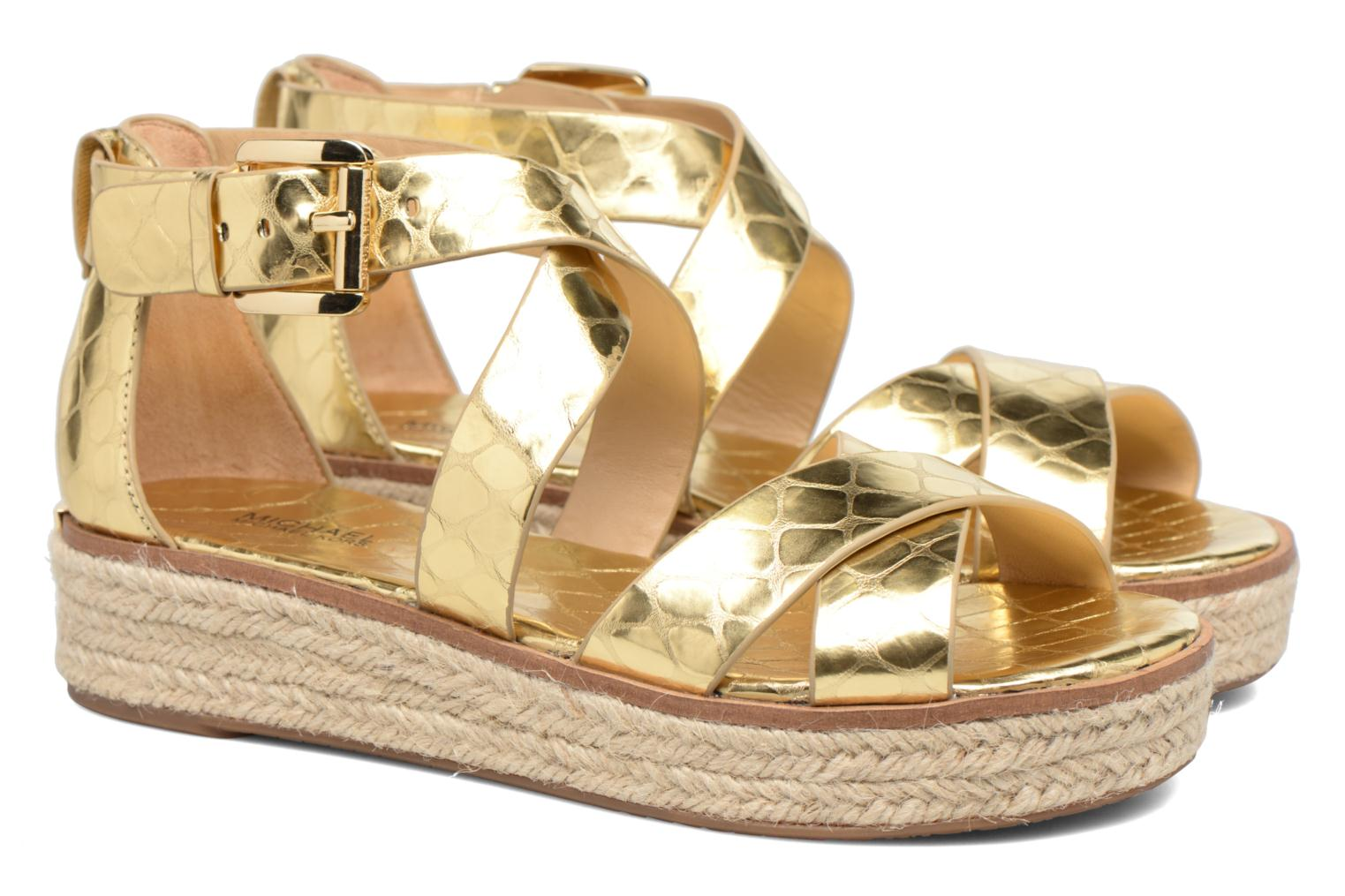 Sandals Michael Michael Kors Darby Sandal Bronze and Gold 3/4 view