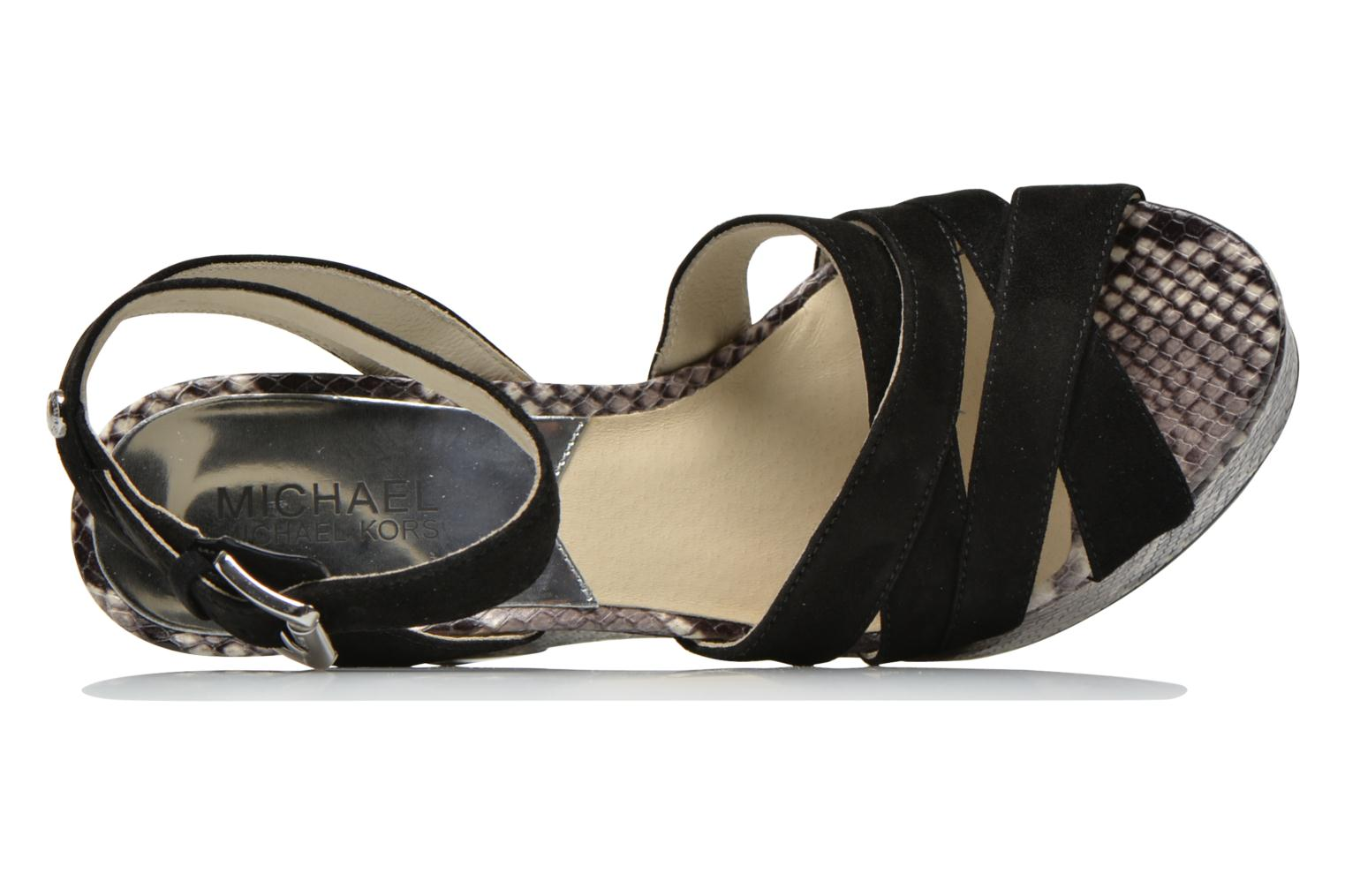 Sandals Michael Michael Kors Megan wedge Black view from the left