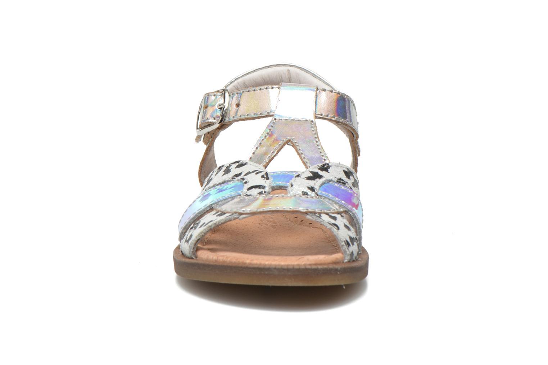 Sandales et nu-pieds Romagnoli Ines Argent vue portées chaussures