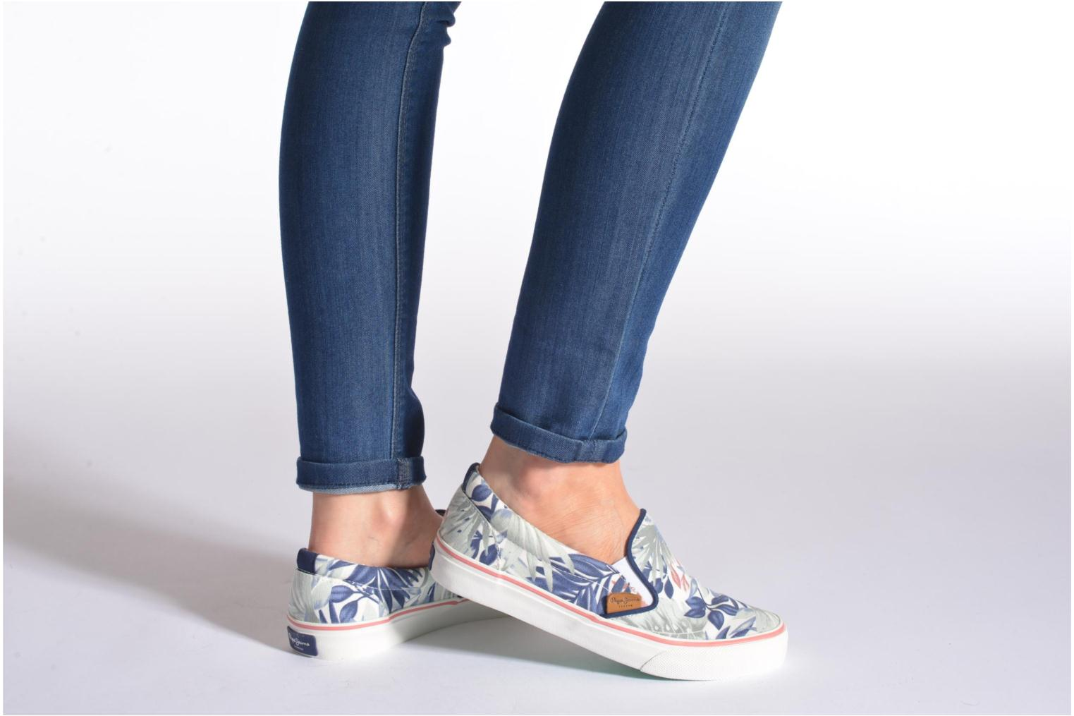 Trainers Pepe jeans Alford Jungle Multicolor view from underneath / model view
