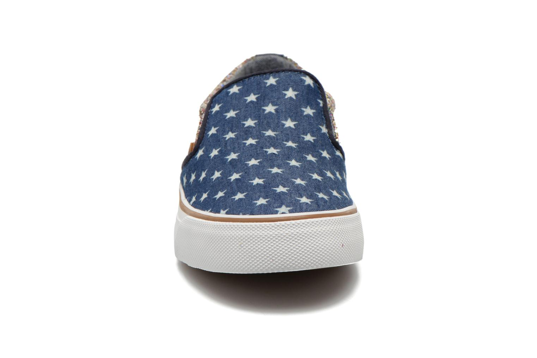 Baskets Pepe jeans Alford Party Stars Bleu vue portées chaussures