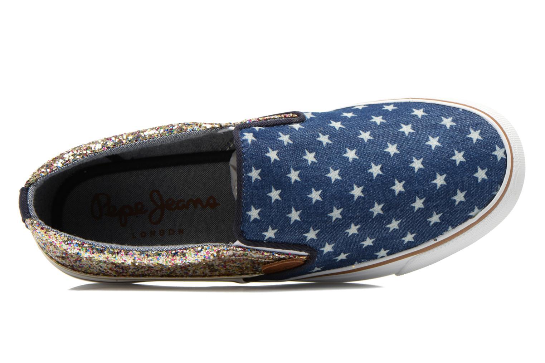 Baskets Pepe jeans Alford Party Stars Bleu vue gauche