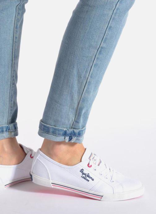 Sneaker Pepe jeans Aberlady Sarenza weiß ansicht von unten / tasche getragen