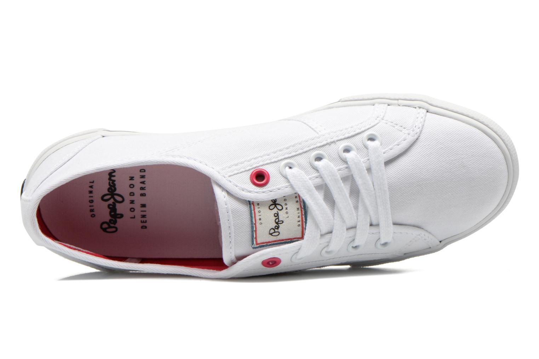 Sneaker Pepe jeans Aberlady Sarenza weiß ansicht von links