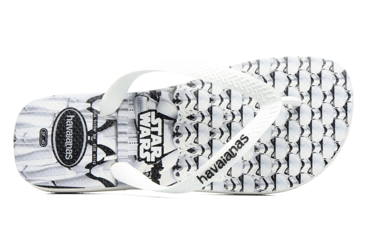 Flip flops Havaianas Star Wars White view from the left