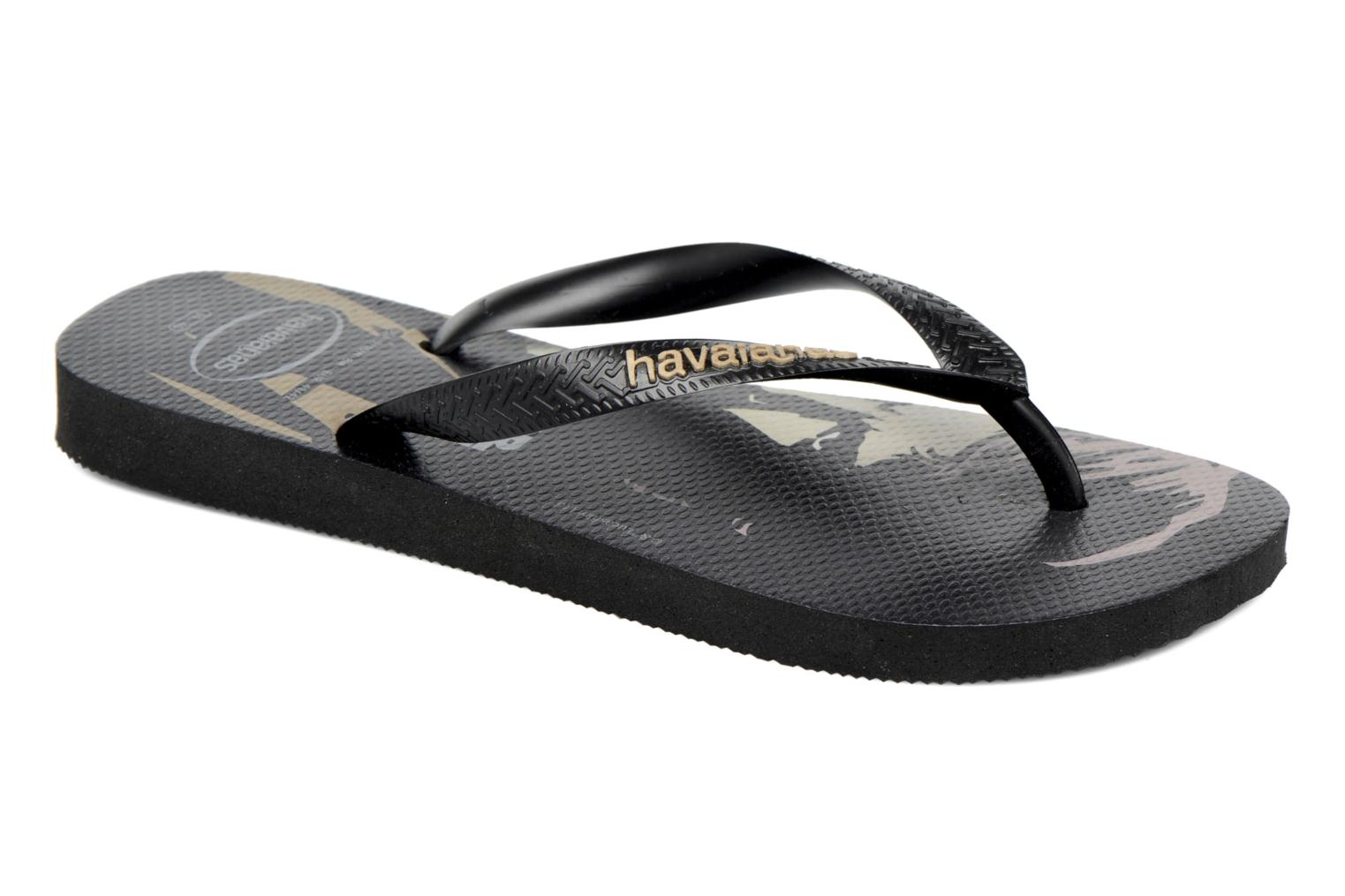 Flip flops Havaianas Star Wars Black detailed view/ Pair view