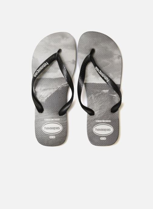 Tongs Havaianas Top Photoprint Noir vue portées chaussures
