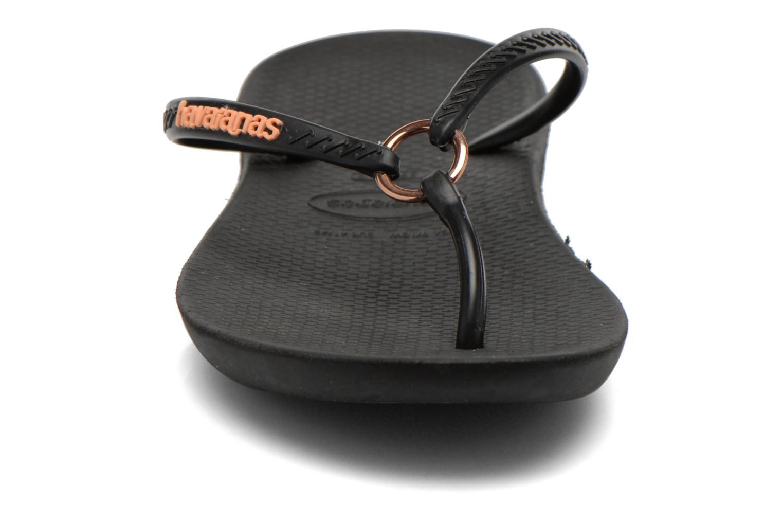 Tongs Havaianas Ring Noir vue portées chaussures