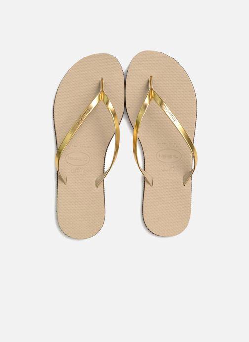 Chanclas Havaianas You Metallic Oro y bronce vista 3/4