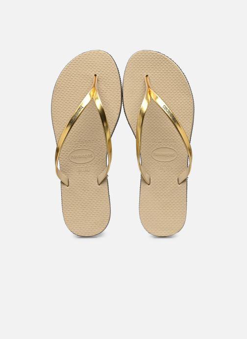 Flip flops & klipklapper Havaianas You Metallic Guld og bronze detaljeret billede af skoene