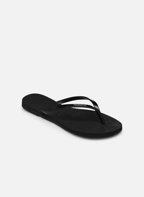 Tongs Havaianas You Metallic Noir vue portées chaussures