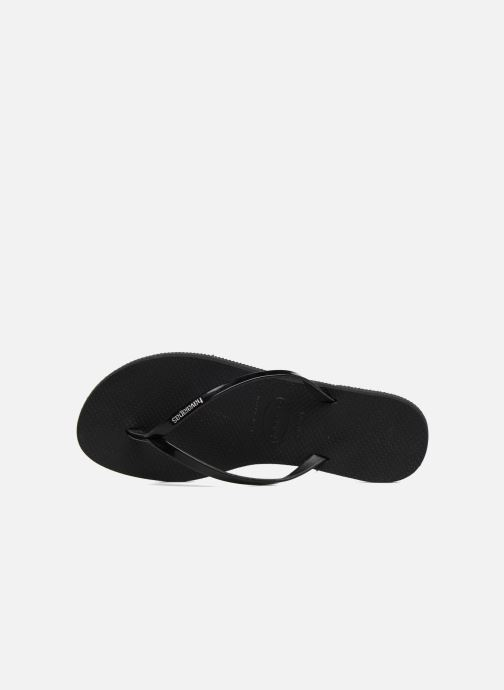 Chanclas Havaianas You Metallic Negro vista lateral izquierda