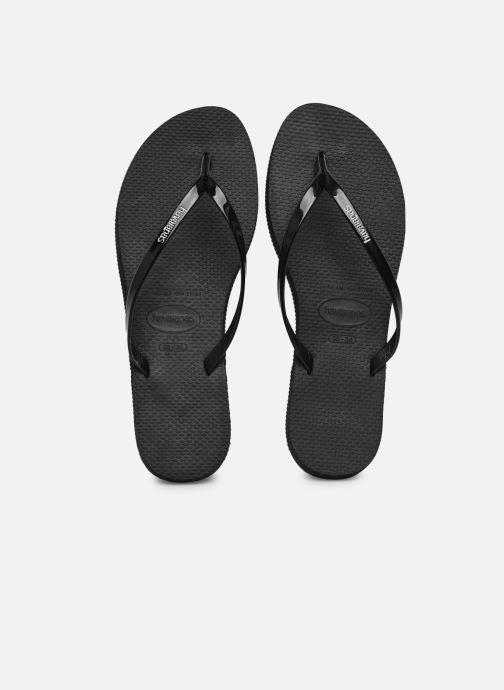 Slippers Havaianas You Metallic Zwart detail