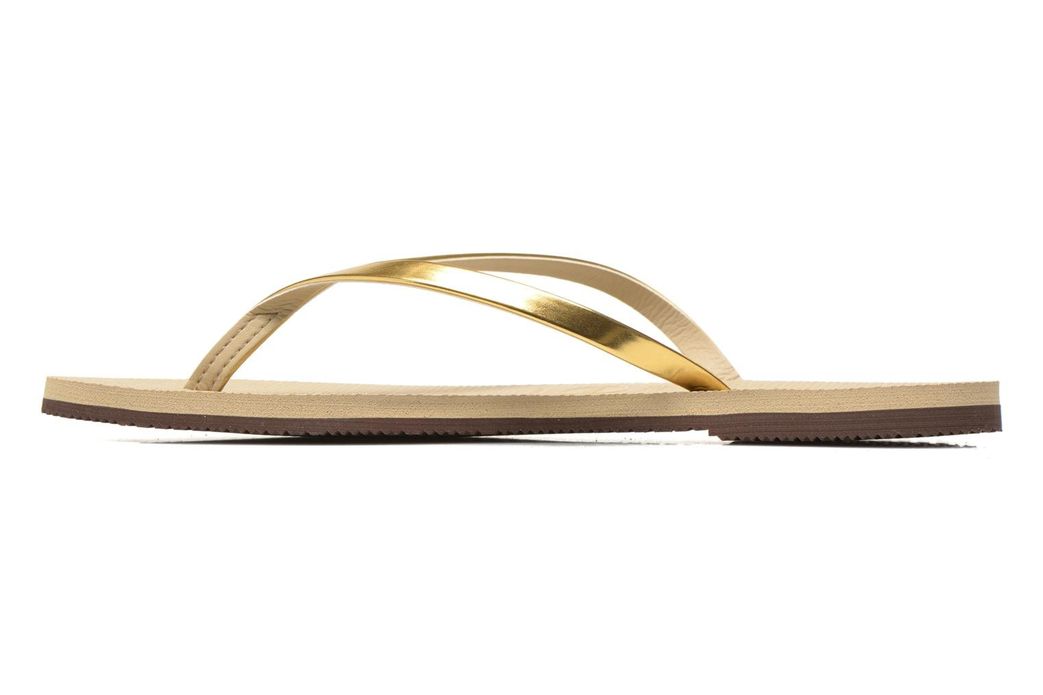 Tongs Havaianas You Metallic Or et bronze vue face
