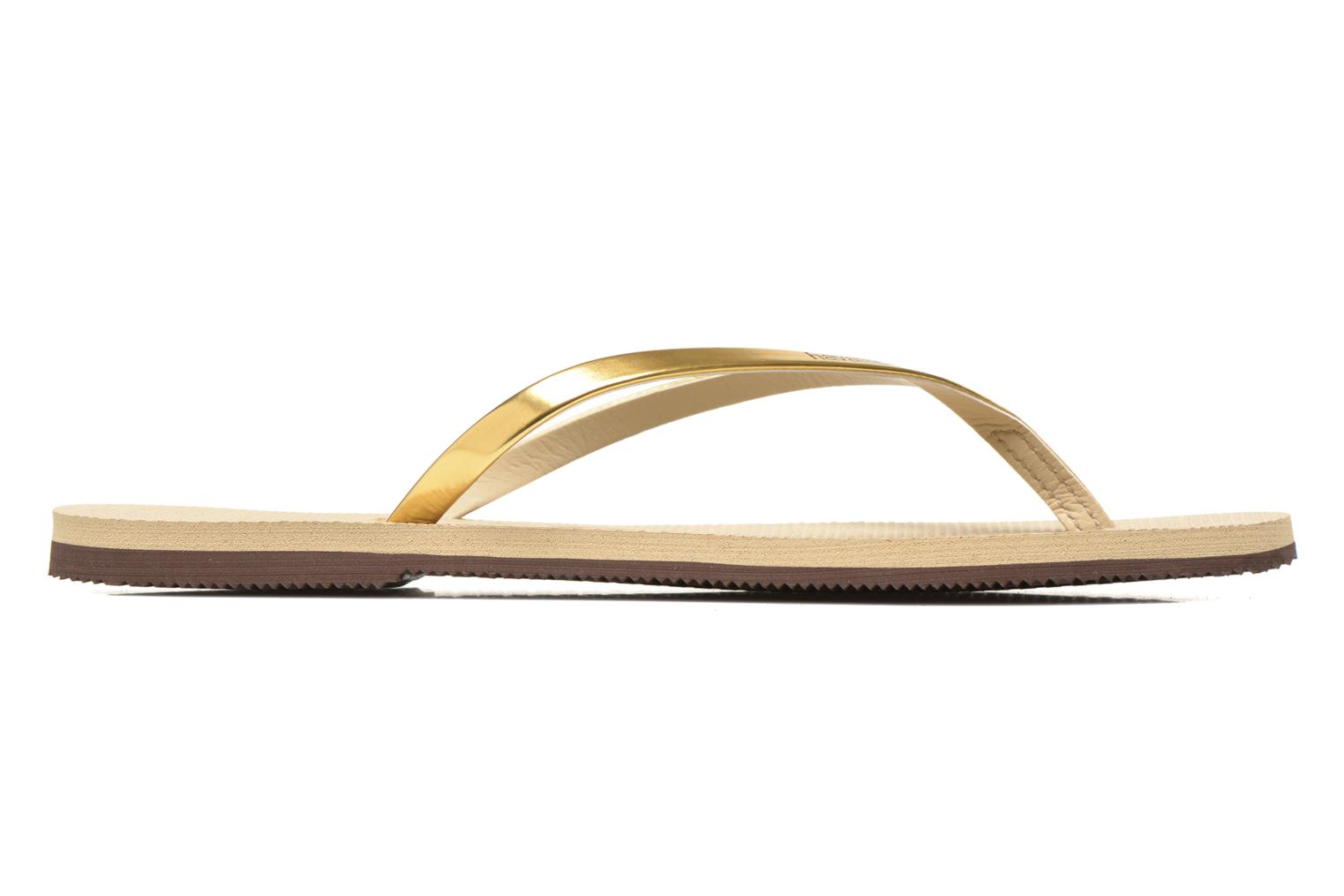 Tongs Havaianas You Metallic Or et bronze vue derrière