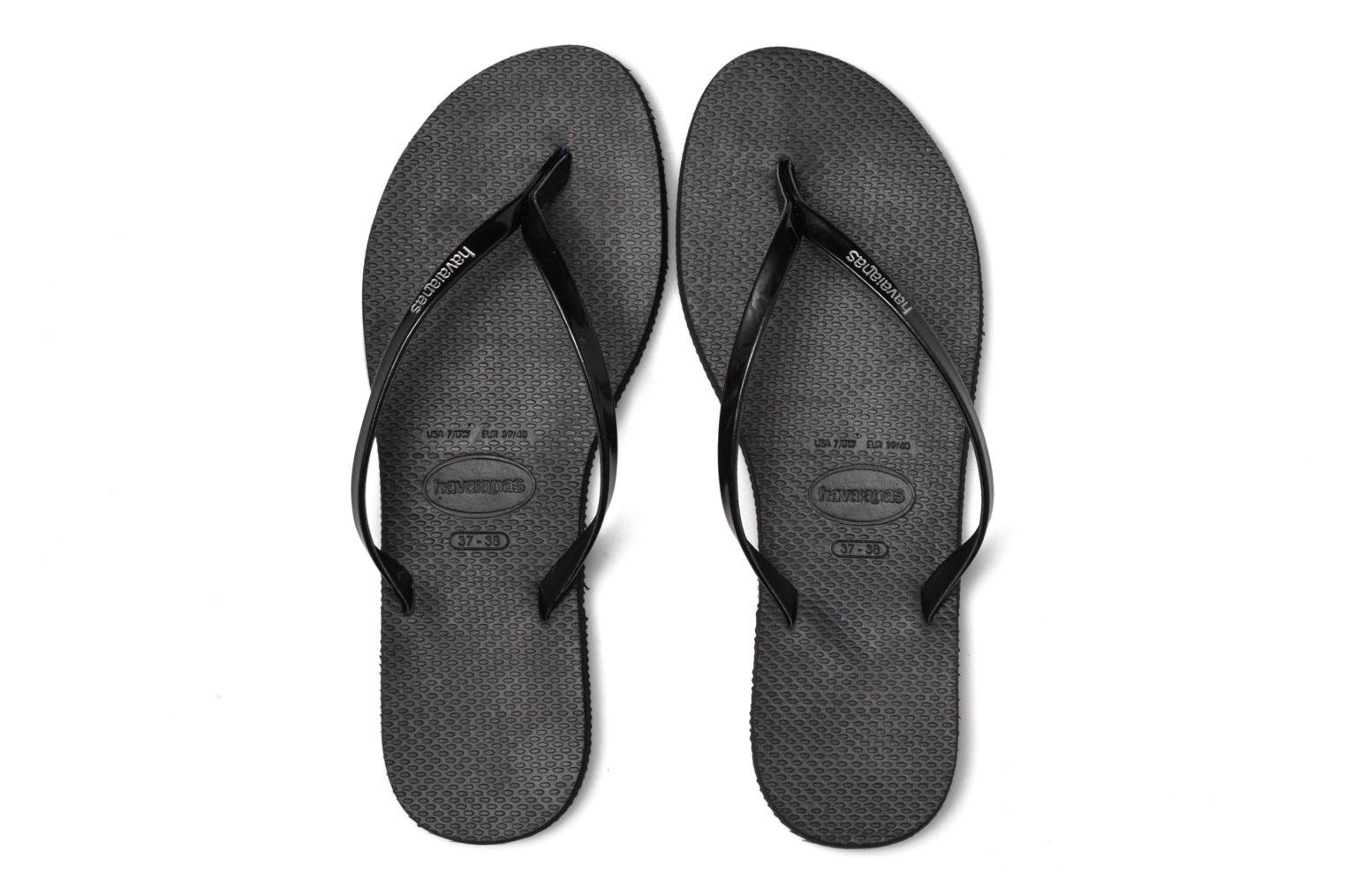 Chanclas Havaianas You Metallic Negro vista 3/4