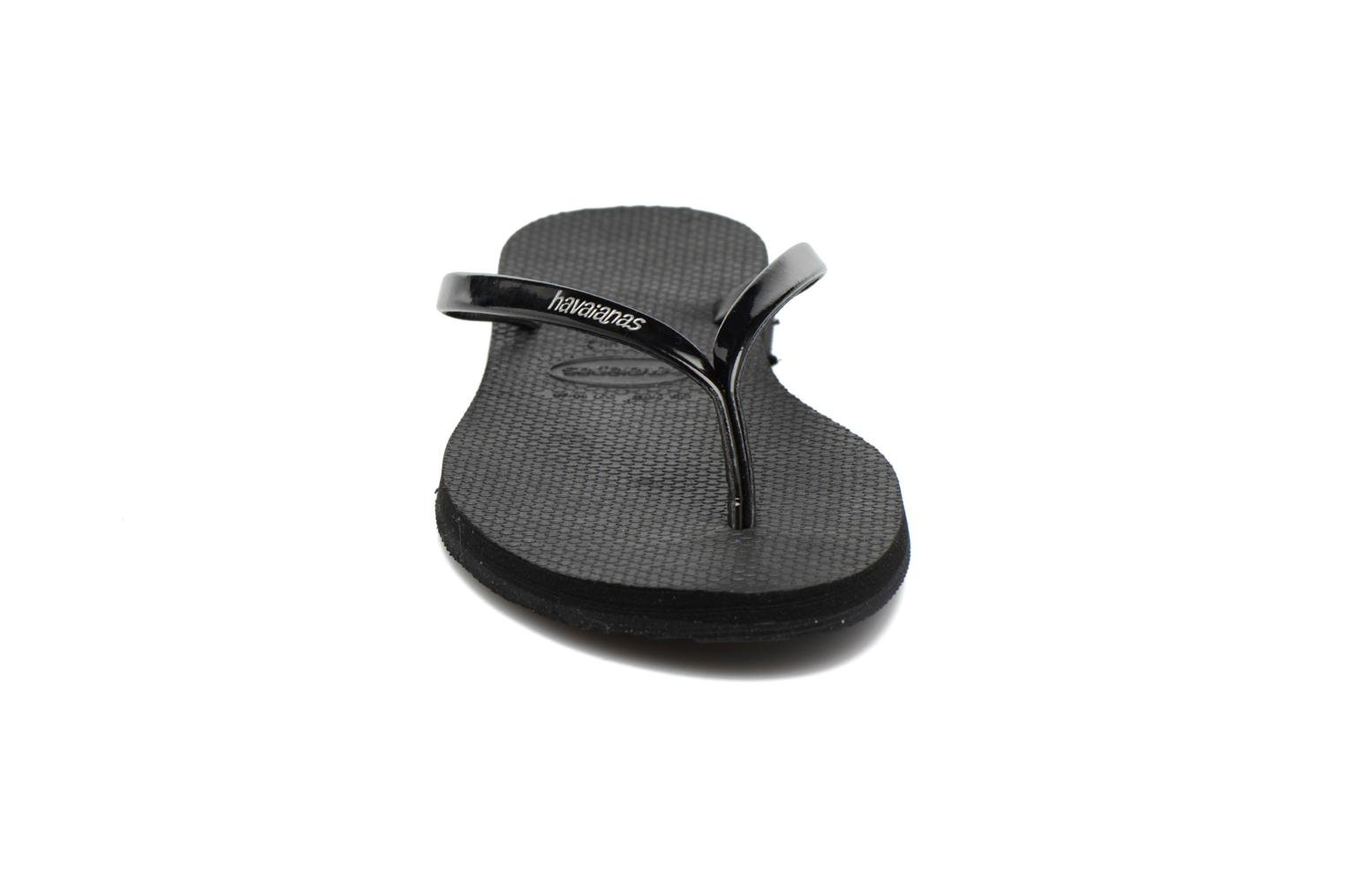 Chanclas Havaianas You Metallic Negro vista del modelo