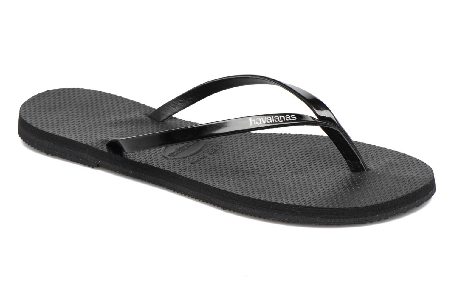 Chanclas Havaianas You Metallic Negro vista de detalle / par