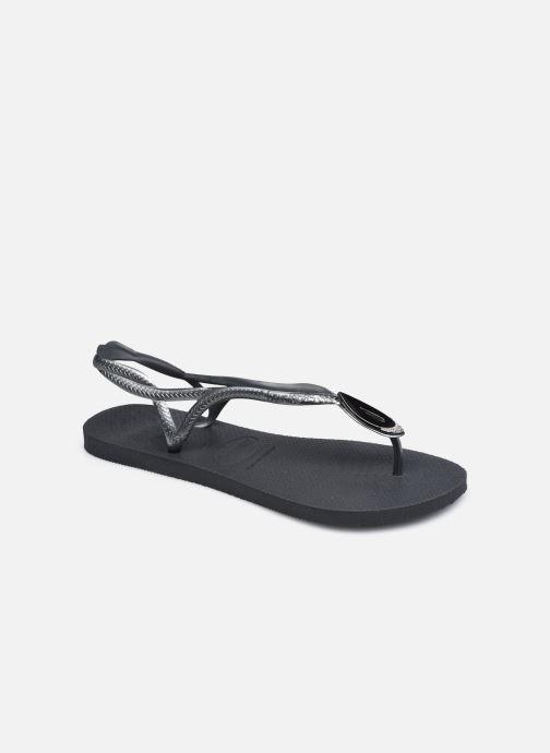Flip flops & klipklapper Havaianas Luna Especial Sort detaljeret billede af skoene
