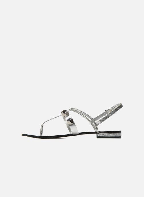 Sandales et nu-pieds Aldo YELLA Argent vue face