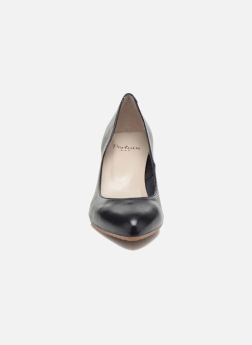 Escarpins Perlato Pampelune Bleu vue portées chaussures