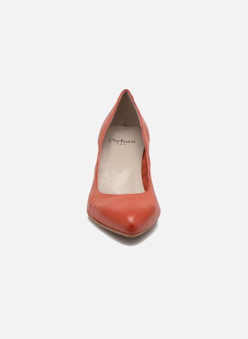 Escarpins Perlato Pampelune Rouge vue portées chaussures