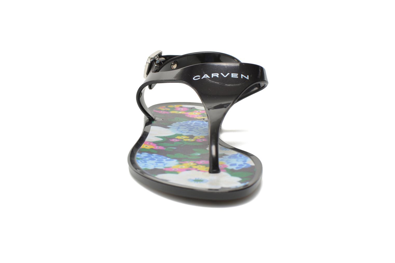 Sandales et nu-pieds Carven Manta Noir vue portées chaussures