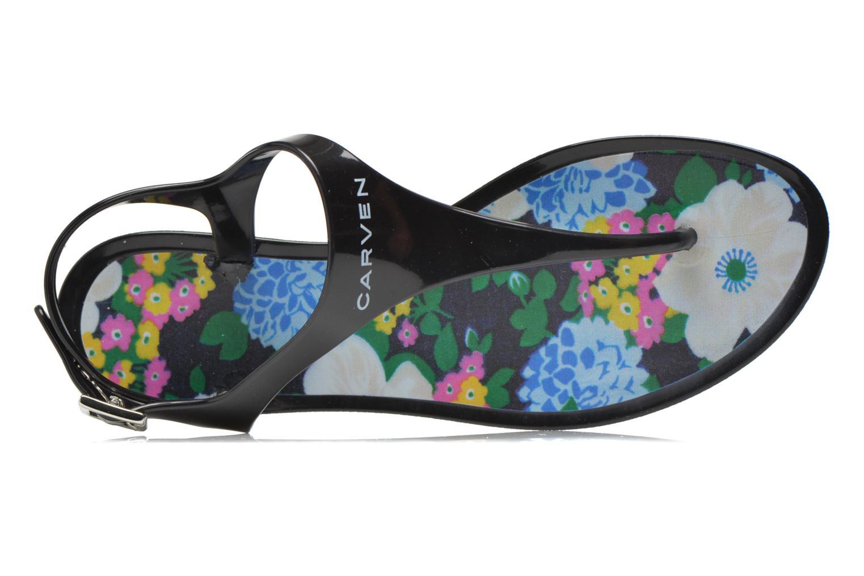 Sandales et nu-pieds Carven Manta Noir vue gauche