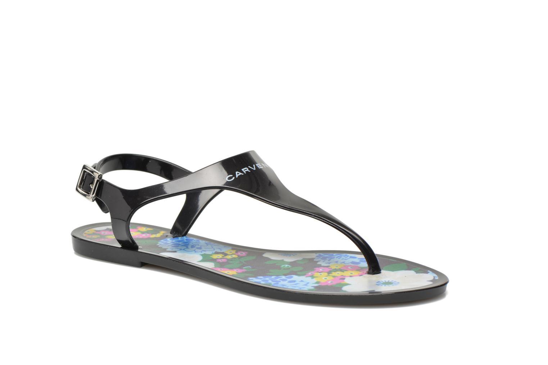 Sandales et nu-pieds Carven Manta Noir vue détail/paire