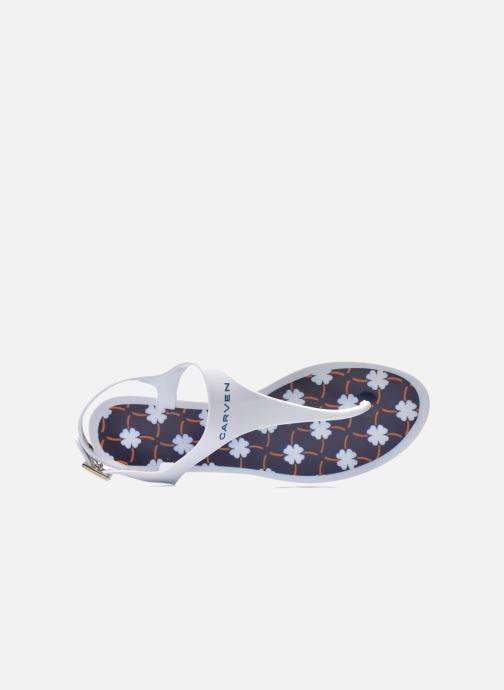 Sandales et nu-pieds Carven Loja Blanc vue gauche