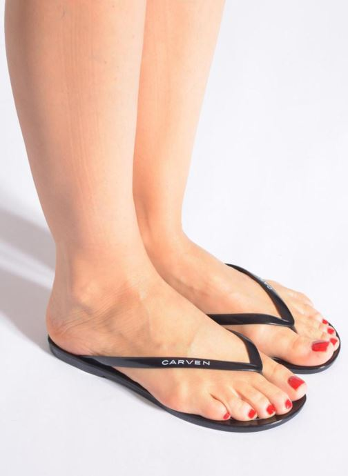 Flip flops Carven Zamora Black view from underneath / model view