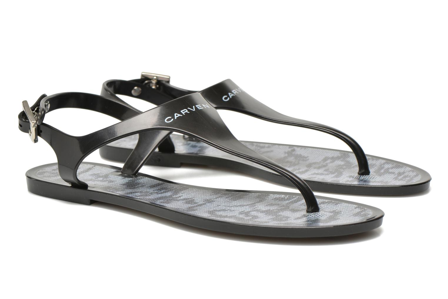 Flip flops Carven Zamora Black 3/4 view