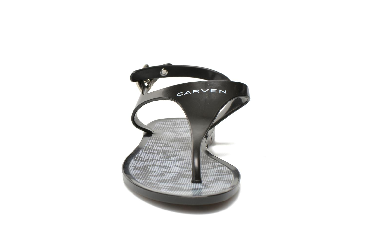 Flip flops Carven Zamora Black model view