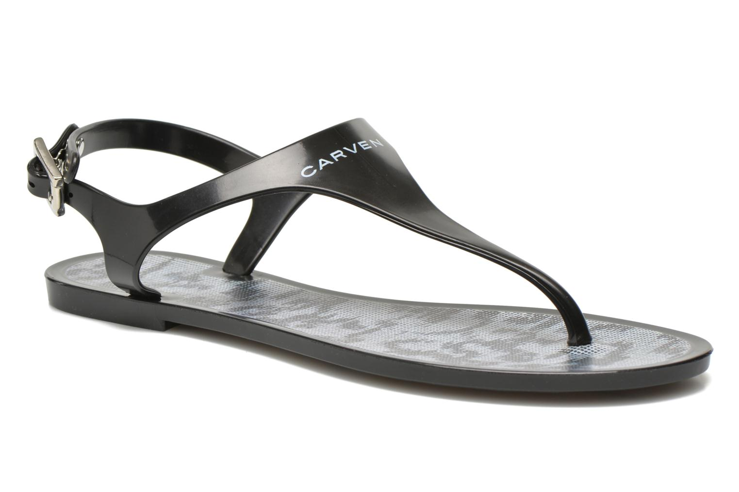 Flip flops Carven Zamora Black detailed view/ Pair view