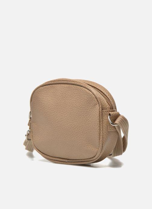 Handbags Paquetage Micro Sac Grainé Beige model view