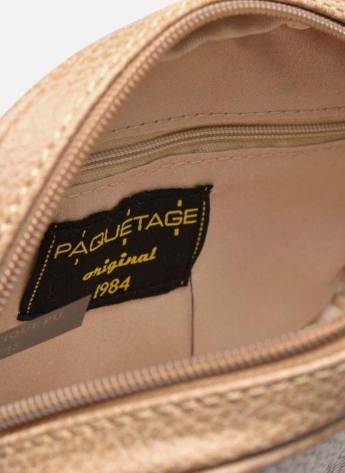 Handbags Paquetage Micro Sac Grainé Beige back view