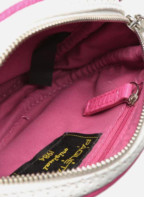 Handtaschen Paquetage Micro Sac Perforé weiß ansicht von hinten
