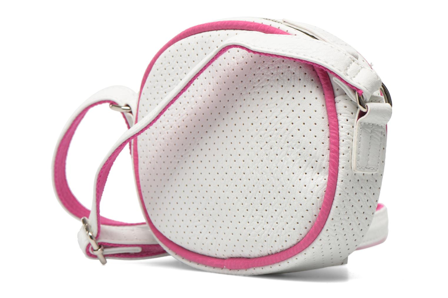Handbags Paquetage Micro Sac Perforé White view from the right