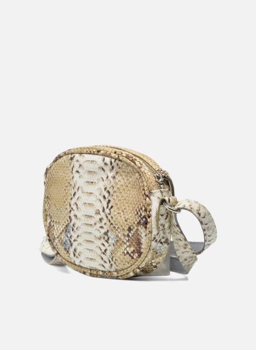 Sacs à main Paquetage Micro Sac Serpent Beige vue portées chaussures