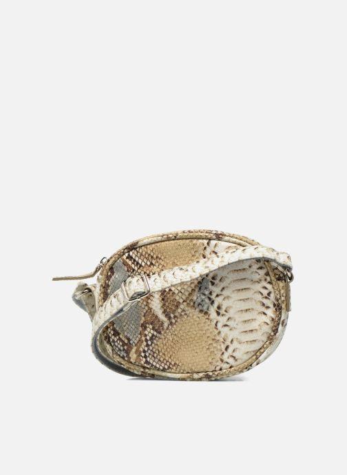 Sacs à main Paquetage Micro Sac Serpent Beige vue face