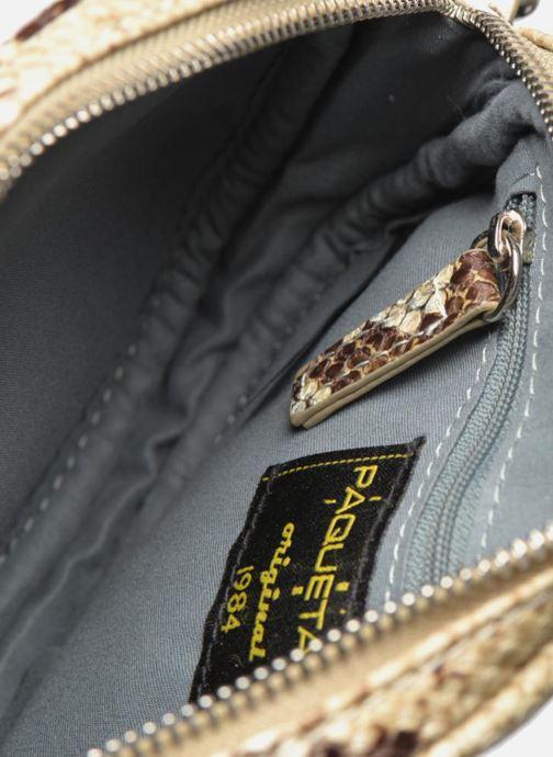 Handtassen Paquetage Micro Sac Serpent Beige achterkant