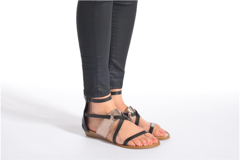 Sandales et nu-pieds Blowfish Badot Marron vue bas / vue portée sac