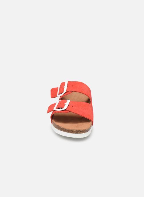 Mules et sabots Vero Moda Julia Leather Sandal Rouge vue portées chaussures